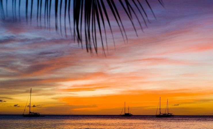 """Sunset Over Grand Anse Bay"""