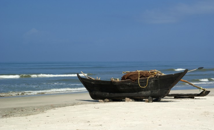 """Traditional Indian Fishing Boat - Goa"""