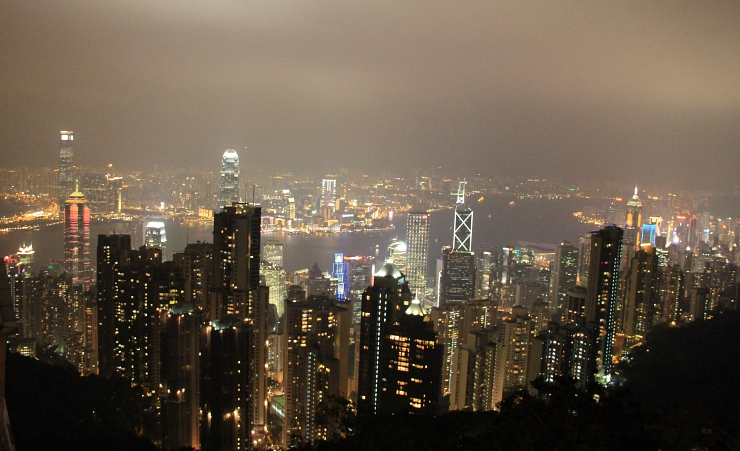 """Night Light Views From The Peak"""