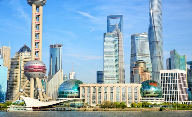 """Skyscrapers In The Pudong Area"""