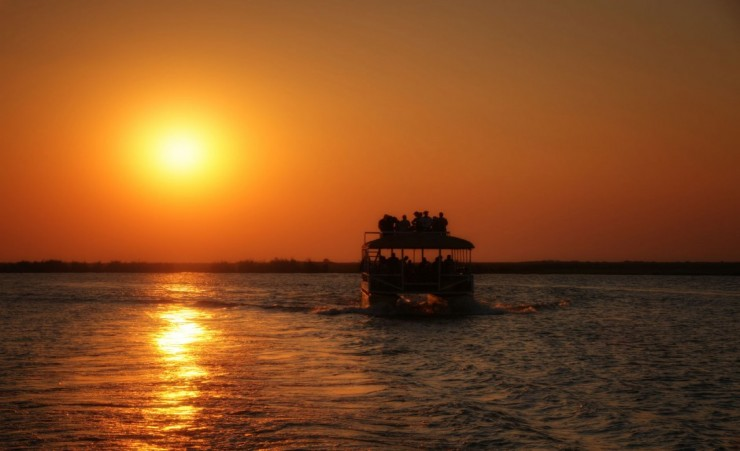 """Sunset Boat Trip On The Zambezi River"""