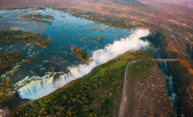 """Victoria Falls From Above"""