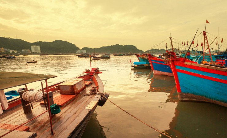 """Fishing Boats In Kep"""