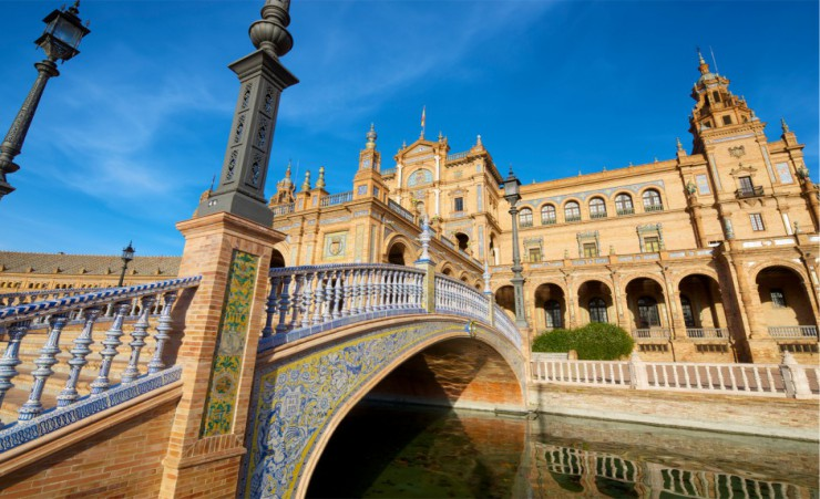 """Spains Square In Seville Andalucia"""