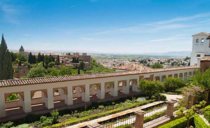"""View Of The Alhambra Castle And Generalife"""