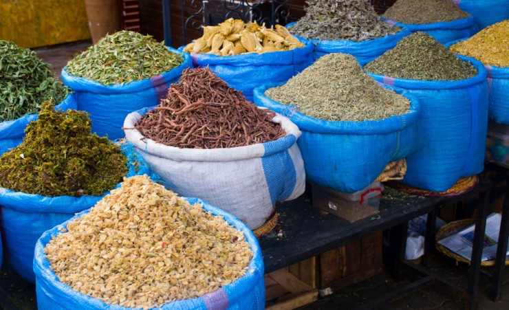 """Spices In A Moroccan Market"""