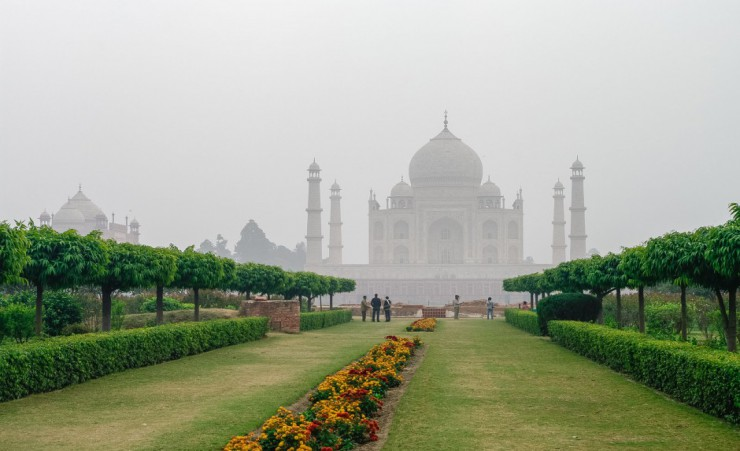 """Mehtab Bagh With View Of Taj Mahal"""