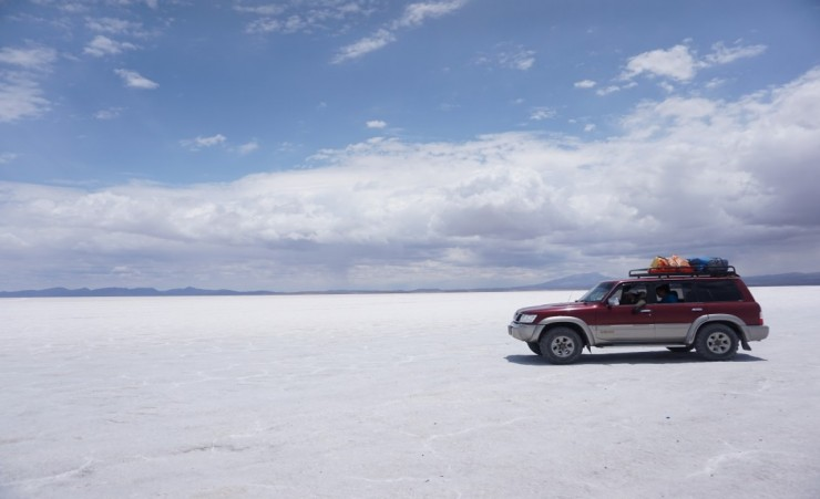 """Salt Flats And Jeep"""