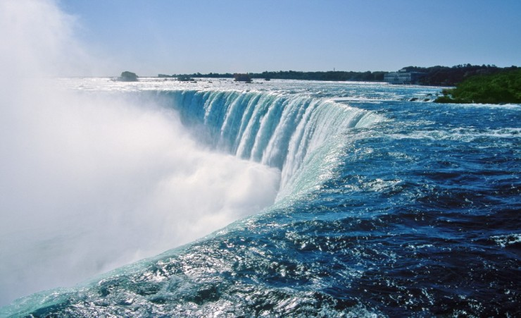 """At The Edge Of Niagara Falls"""