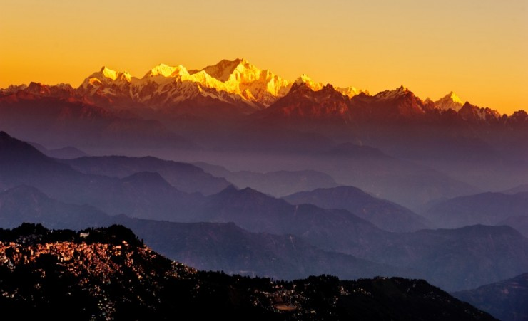 """Sunrise Seen From Tiger Hill Darjeeling"""