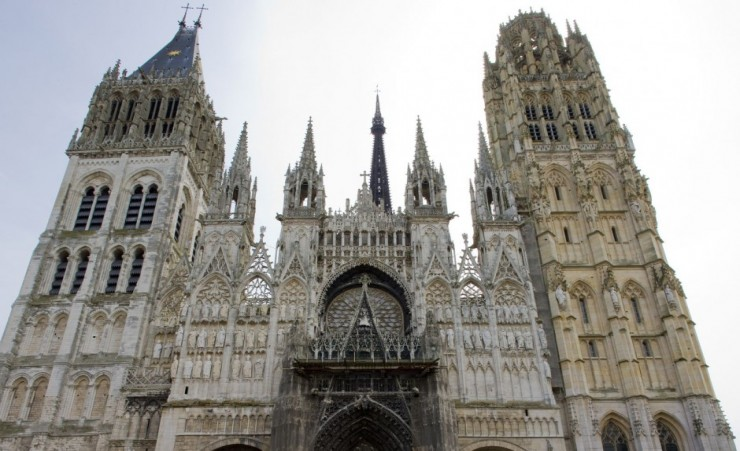 """Close Up Of The Cathedral In Rouen"""