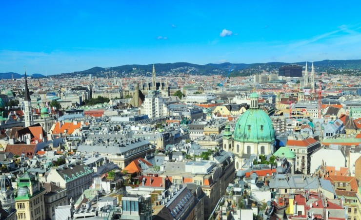 """Rooftops Of Vienna From St Stephens Cathedral"""