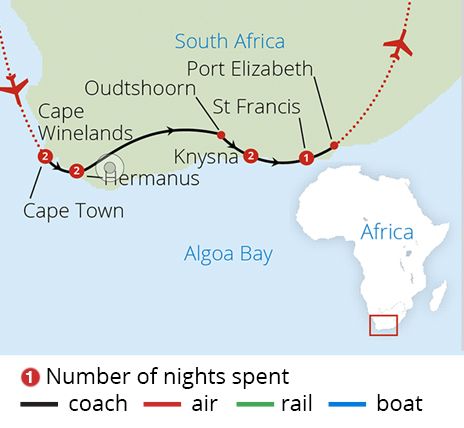 South Africa's Garden Route Route Map