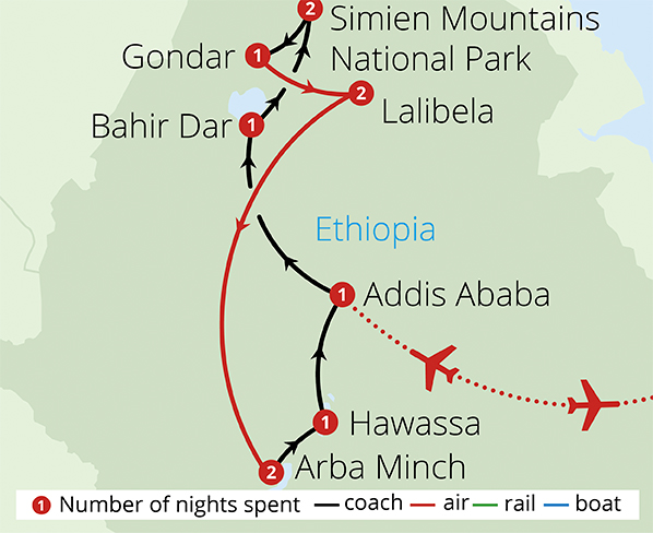 Ethiopia A Cultural Odyssey Route Map