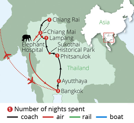 Classic Thailand Route Map