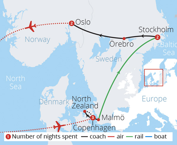 Scandinavias Spectacular Cities Route Map