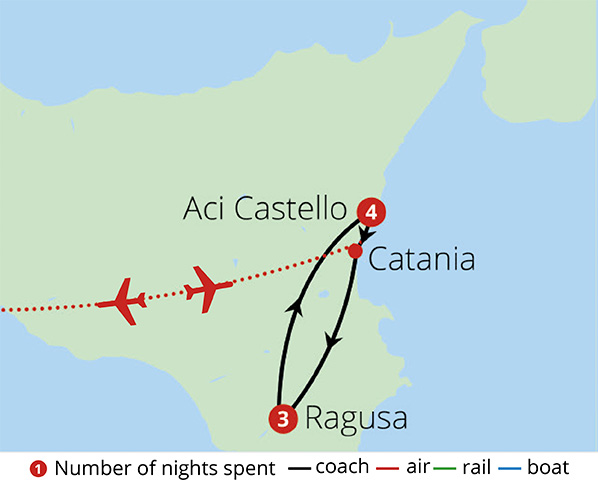 Classical Sicily Route Map