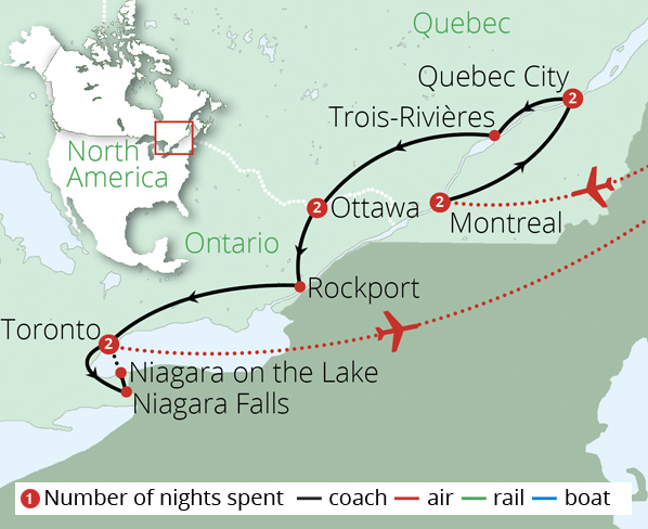 Canada's Maple Leaf Trail Route Map