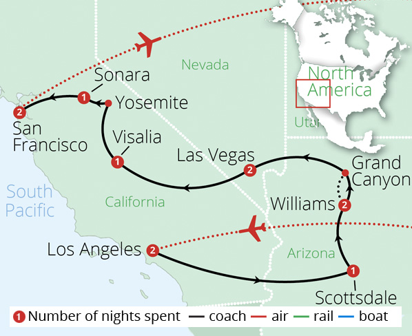 Spirit of the West Route Map