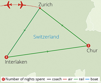 The Glacier Express Route Map