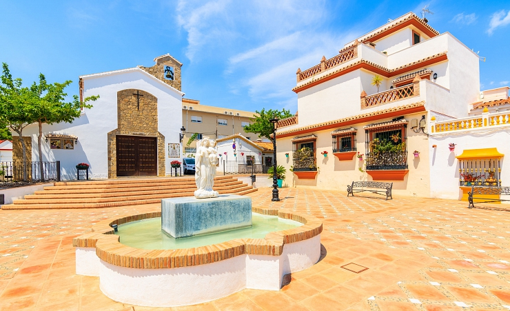 """Water Fountain In Estepona Town Square"""